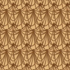 Watchchain drape--sepia