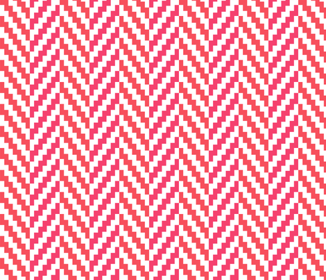 Aztec_Chevron_Coral fabric by crisbucknall on Spoonflower - custom fabric