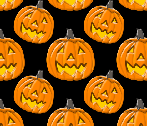 Halloween Pumpkin fabric by bluewrendesigns on Spoonflower - custom fabric
