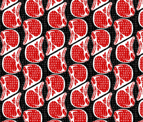 prime rib - the other geeky meat - basic fabric by glimmericks on Spoonflower - custom fabric