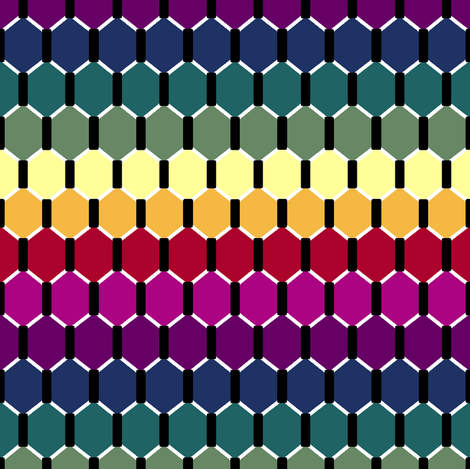 Rainbow Hex fabric by pond_ripple on Spoonflower - custom fabric