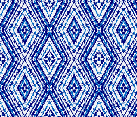 Blue White diamond fabric by bettinablue_designs on Spoonflower - custom fabric