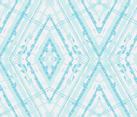 Aqua White diamond fabric by bettinablue_designs on Spoonflower - custom fabric