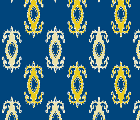 fine china (blue) ©jill bull fabric by fabricfarmer_by_jill_bull on Spoonflower - custom fabric
