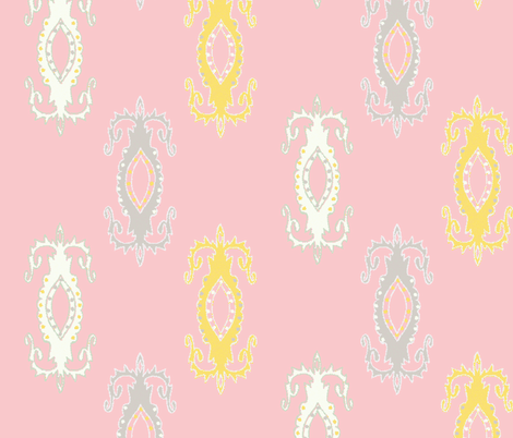 fine china (pink) ©jill bull fabric by palmrowprints on Spoonflower - custom fabric