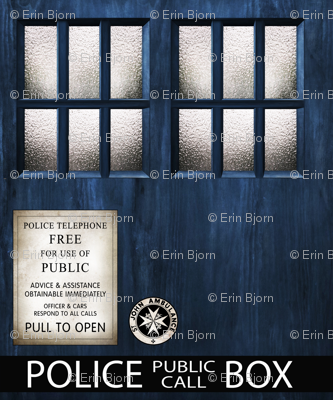 "TARDIS  Wood 5"" Panels Signage"