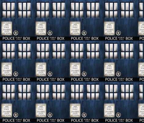 "TARDIS  Wood 5"" Panels Signage fabric by bjornonsaturday on Spoonflower - custom fabric"