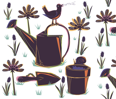 Spring_Garden_song fabric by antoniamanda on Spoonflower - custom fabric