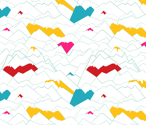 Mountains fabric by pragya_k on Spoonflower - custom fabric