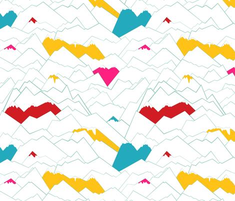 Mountains fabric by pragya_k on Spoonflower - custom fabric