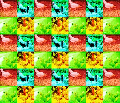 ChickenpopartEW fabric by ewebs on Spoonflower - custom fabric
