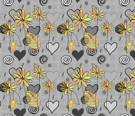 geek flower power fabric by blumenlimonade on Spoonflower - custom fabric