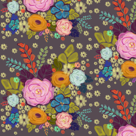 Folksy Floral Garden fabric by alyssaray on Spoonflower - custom fabric