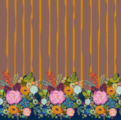 Folksy Floral Border