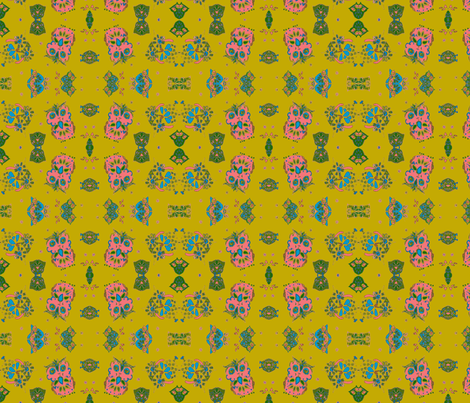 1970's Owls small print fabric by bettinablue_designs on Spoonflower - custom fabric