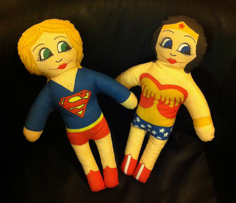 Wonder Girl cut and sew doll