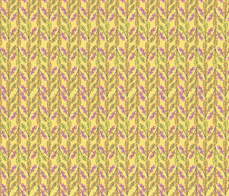 Folksy Foliage fabric by alyssaray on Spoonflower - custom fabric