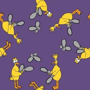 Chickens & Chainsaws Purple