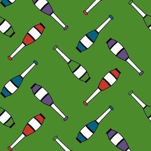 Juggling Clubs Green
