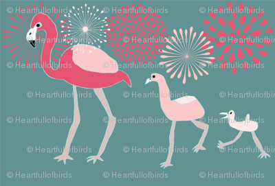 Flamingo Family 2