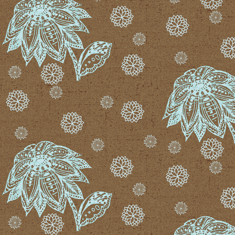 petal blue fabric by kerryn on Spoonflower - custom fabric