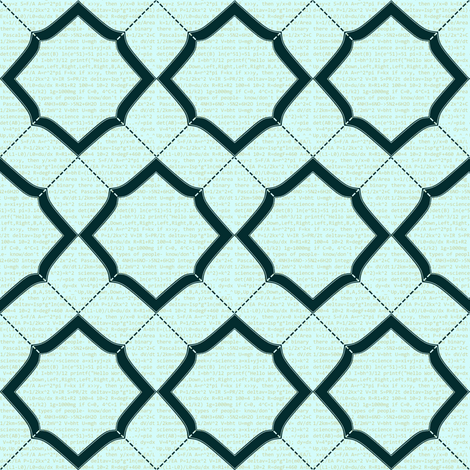 Chevron Equations fabric by spikymammal on Spoonflower - custom fabric