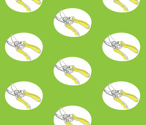 secateurs polka spring fabric by saartje on Spoonflower - custom fabric