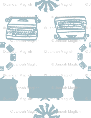 typewriter_stripe_4_objects_lightblue