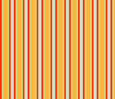 Orange_Poppy_Stripe fabric by bluewrendesigns on Spoonflower - custom fabric