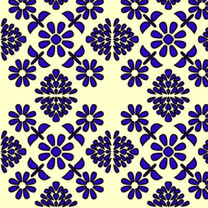 Spanish tiles Art Deco flowers