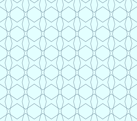 Geometric Blues fabric by bettieblue_designs on Spoonflower - custom fabric