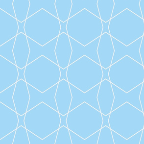 Geometric light Blue