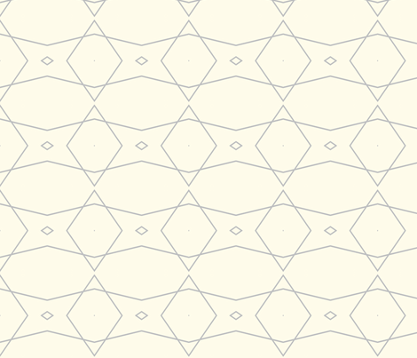 Grey and Cream Geometric  fabric by bettinablue_designs on Spoonflower - custom fabric