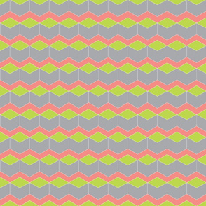 Block Chevron Lime & Grey