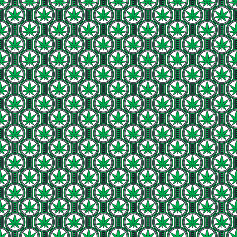 Small Hemp Leaf Design 300 fabric by shala on Spoonflower - custom fabric