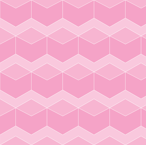 Block Chevron Bubblegum