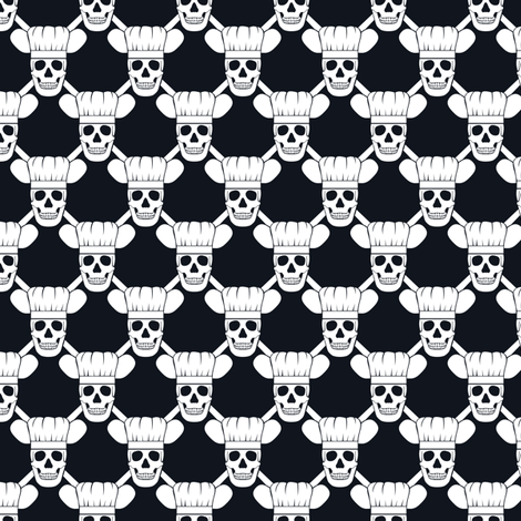 Chef Skull Small fabric by shala on Spoonflower - custom fabric