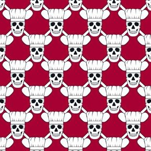 Chef Skull Small- Red