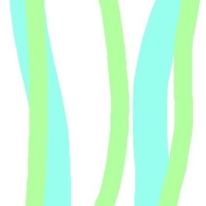 lime and aqua stripe