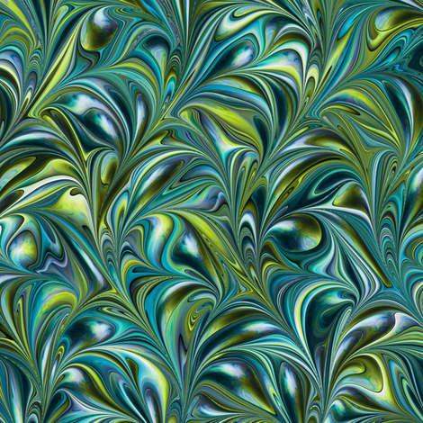 FM004-Swirl fabric by modernmarblingdesign on Spoonflower - custom fabric