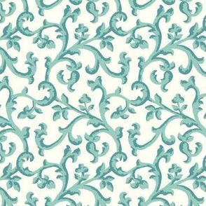 Turquoise Scroll