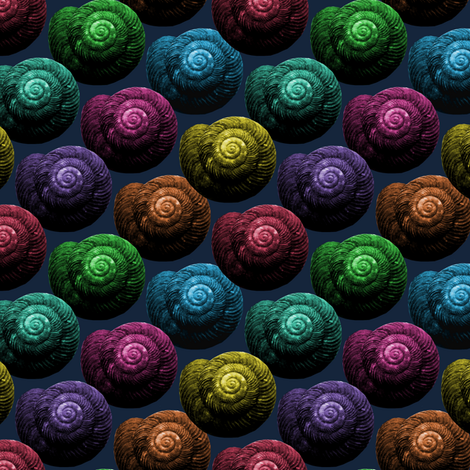 Snail Shells fabric by pond_ripple on Spoonflower - custom fabric