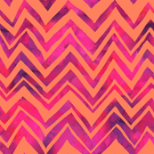 Heidi Chevron Orange