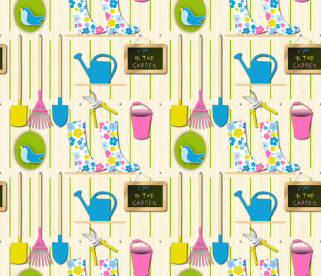 I'm In The Garden fabric by vannina on Spoonflower - custom fabric