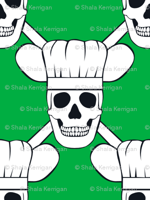 Chef Skull Small- Green