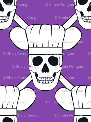 Chef Skull Small- Purple