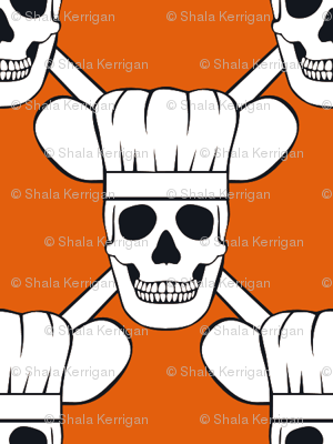 Chef Skull Small-Orange