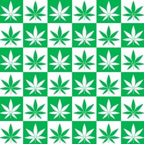 Hemp Leaf Checkerboard