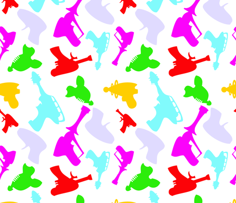 rayGUNZ fabric by happyhappymeowmeow on Spoonflower - custom fabric