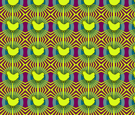 funky_chicken fabric by lilliblomma on Spoonflower - custom fabric